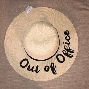 """Accessories - """"Out of Office"""" Beach Hat"""